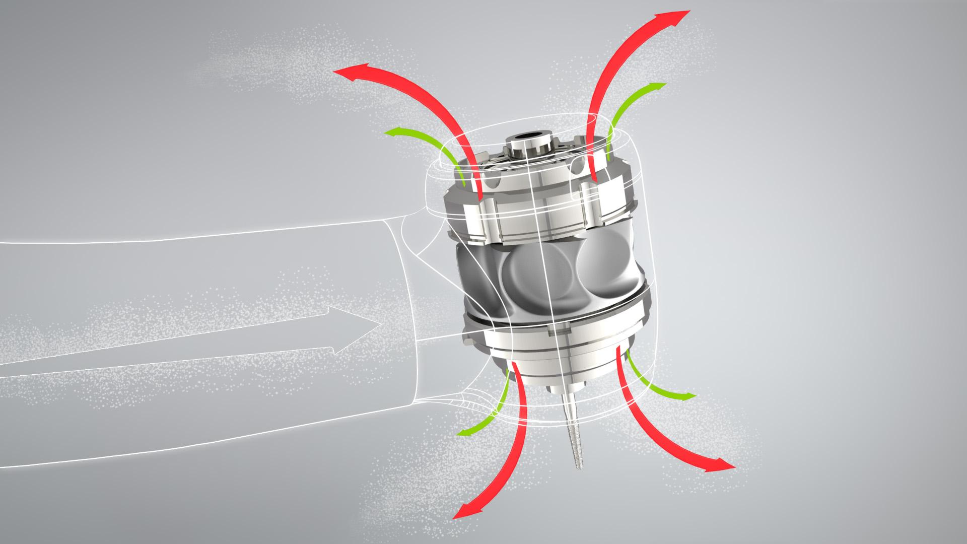 Erzeugen Luftturbinen mehr Aerosole als elektrische Schnelllaufwinkelstücke?