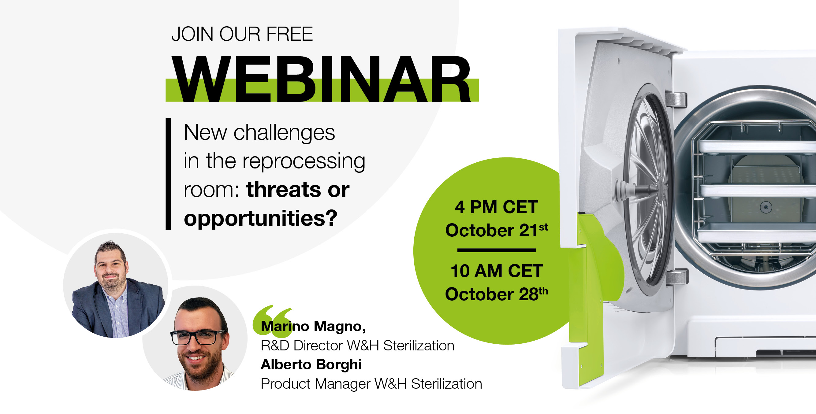 Webinar: New challenges in the reprocessing room: threats or opportunities?