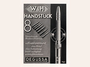 Straight handpiece No. 8 with ball tension