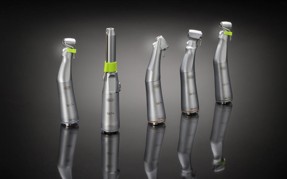 <br><br><br><br><br><br>The new surgical<br>straight and contra-angle handpieces <br>with mini LED+