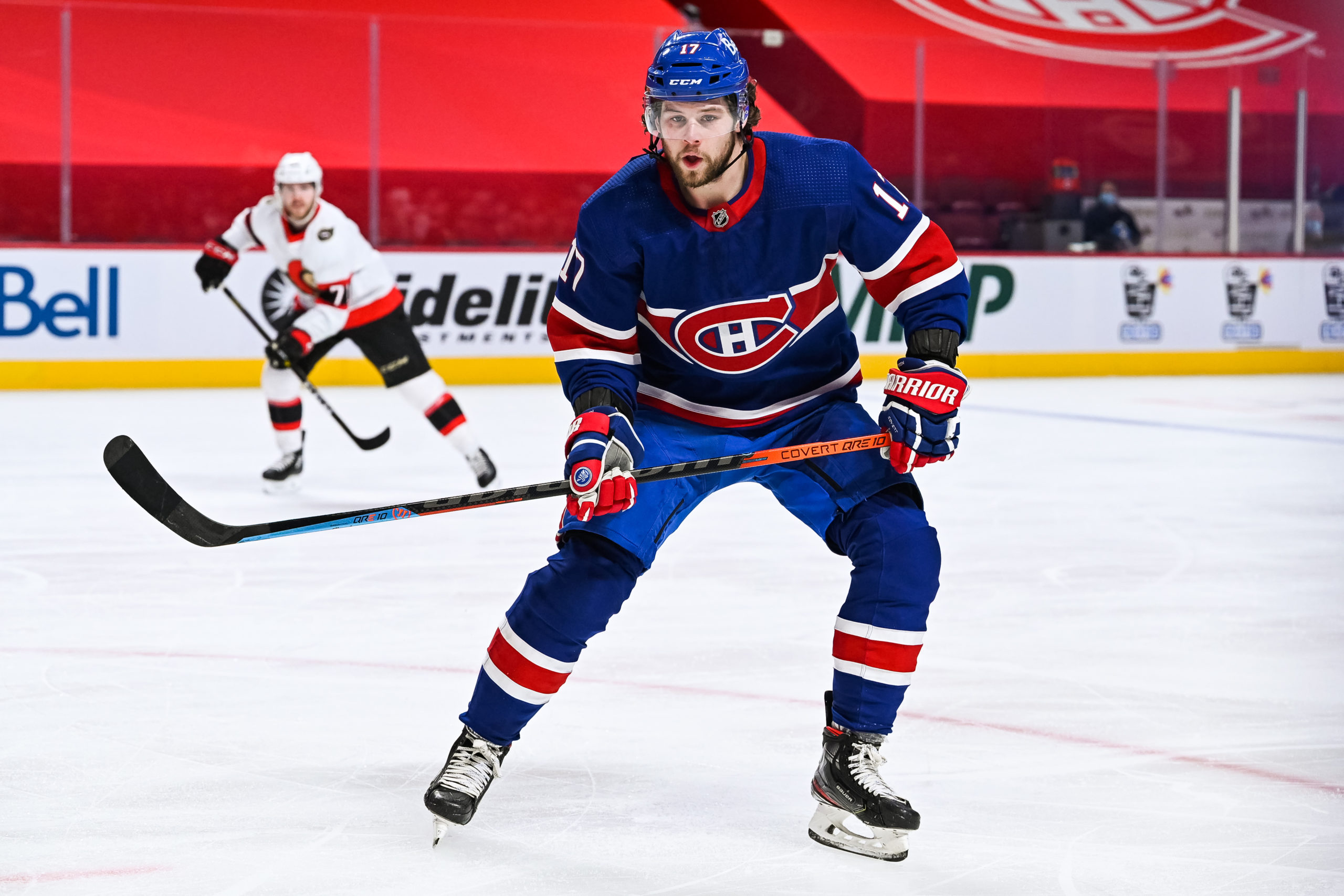 NHL athlete Josh Anderson playing hockey for the Montreal Canadiens