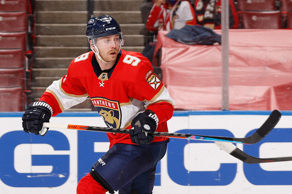 NHL player Samuel Bennett playing hockey