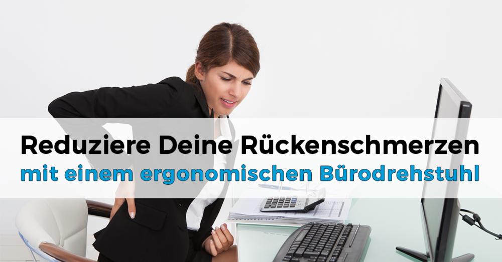Ergonomischer Bürodrehstuhl gegen Rueckenschmerzen