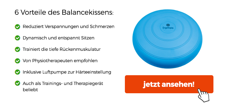 Balancetraining mit dem Balancekissen