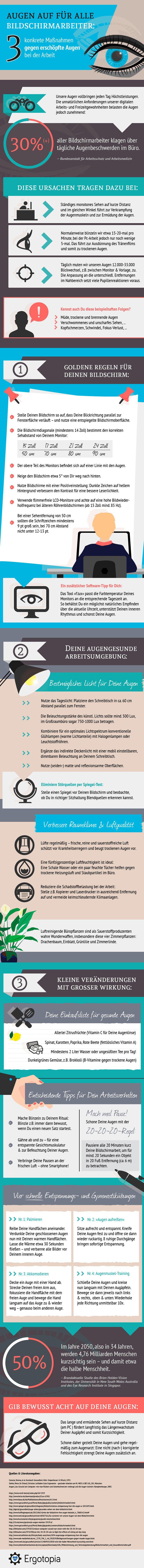 [Infografik] Fuer Bildschirmarbeiter: 3 Tipps gegen erschoepfte Augen