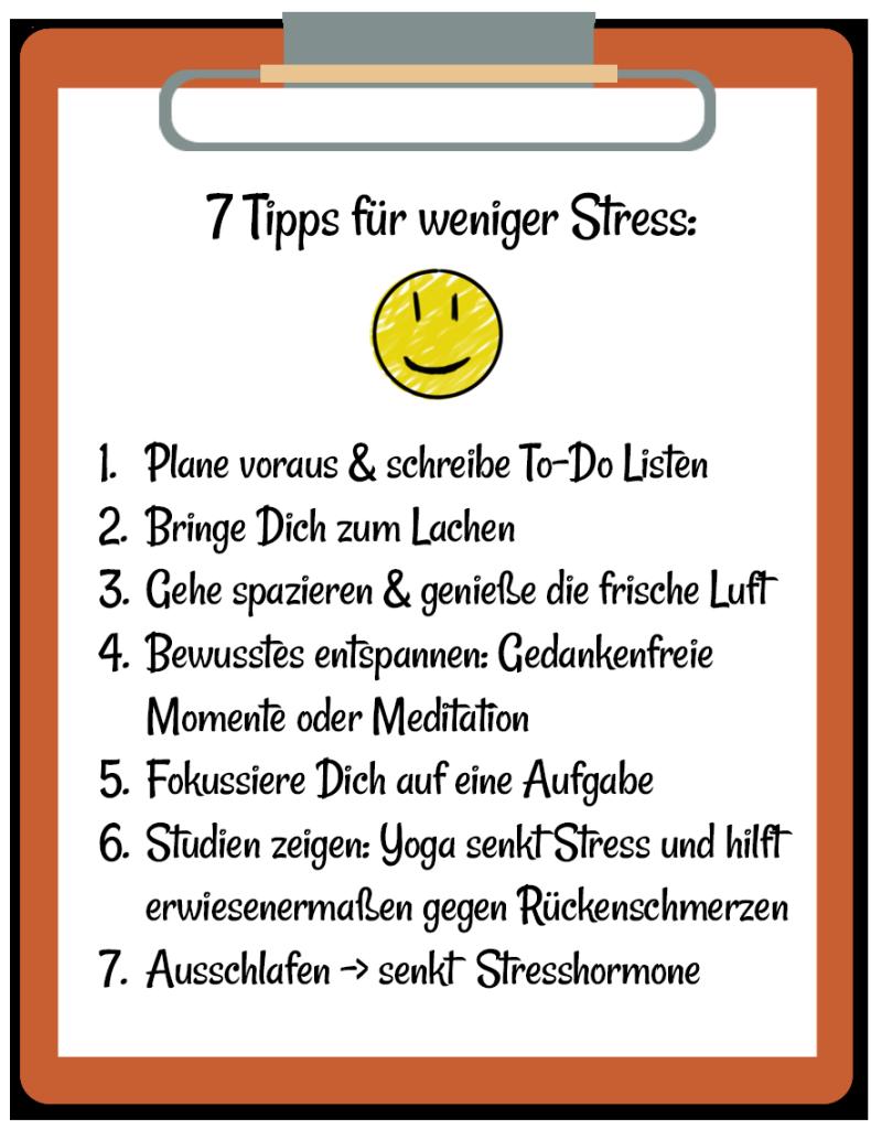 Stress Tipps bei Rückenschmerzen