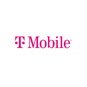 """""""T Mobile"""" is printed in pink."""