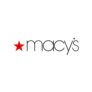 """A red star sits next to the word """"macy's""""."""