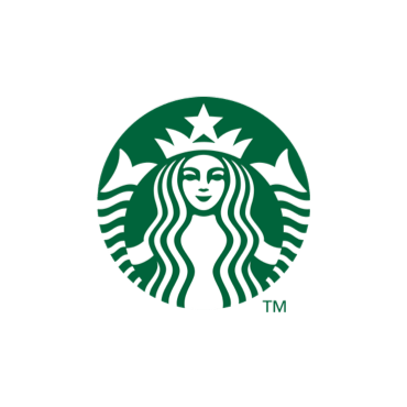The Starbucks logo. A white illustration of a crowned mermaid is centered within a green circle.