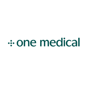 """""""one medical"""" is printed in green to the right of a five neatly arranged green dots."""