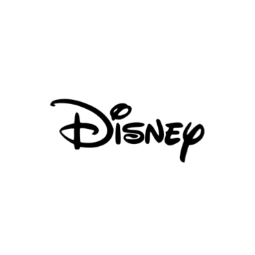 """""""Disney"""" is printed in a whimsical font in black text."""