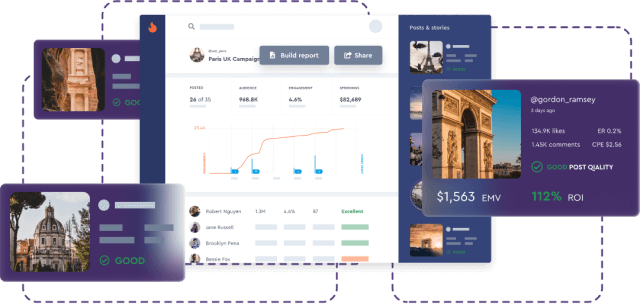 Manage and Track Influencer Campaigns on Instagram and YouTube Mobile Image