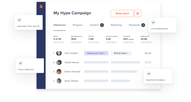 Influencer Marketing Campaign Management Mobile Image