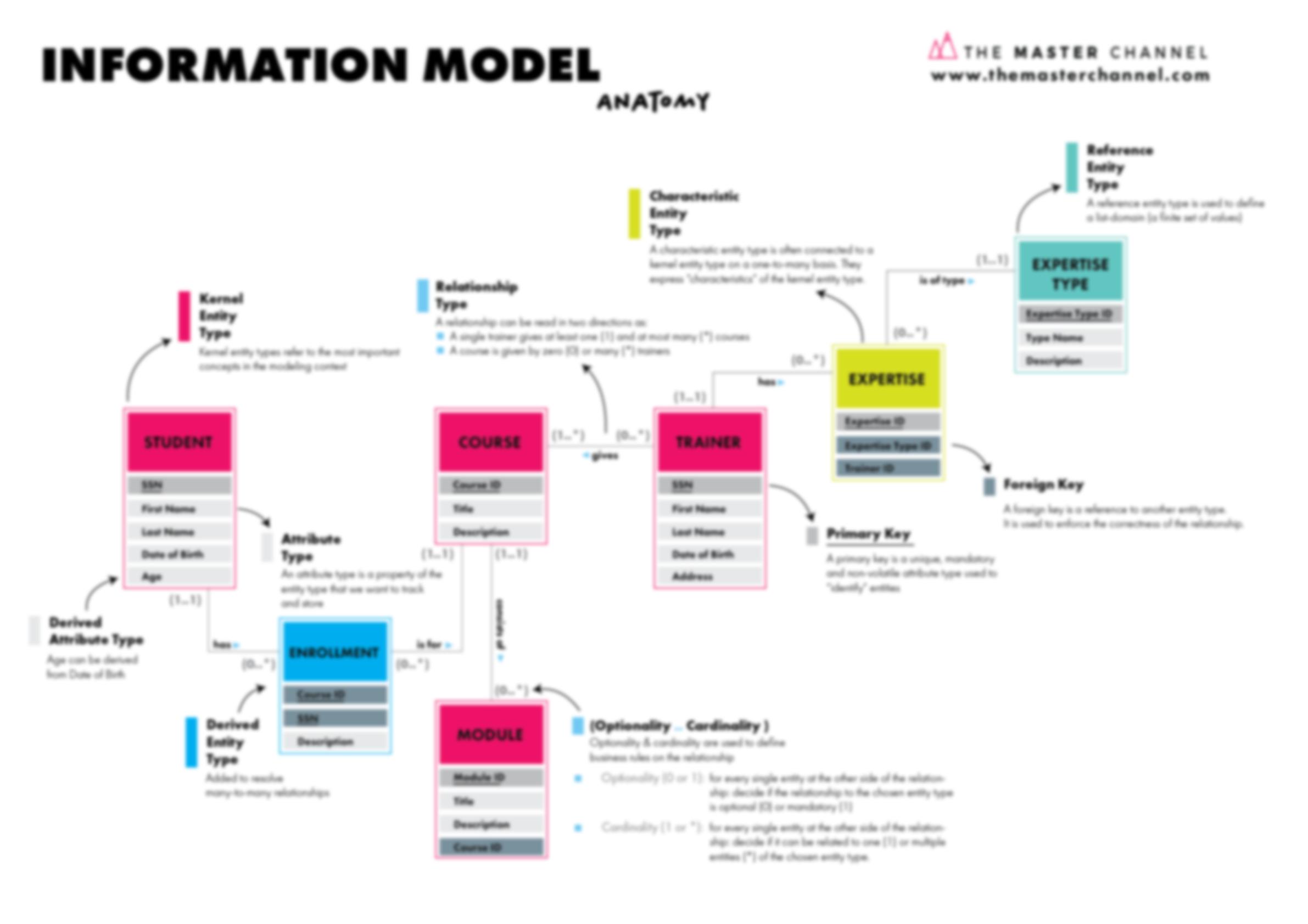 Information Model Anatomy Blurred Poster