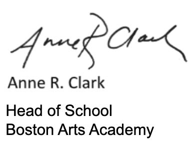 Anne R. Clark Head of School Signature