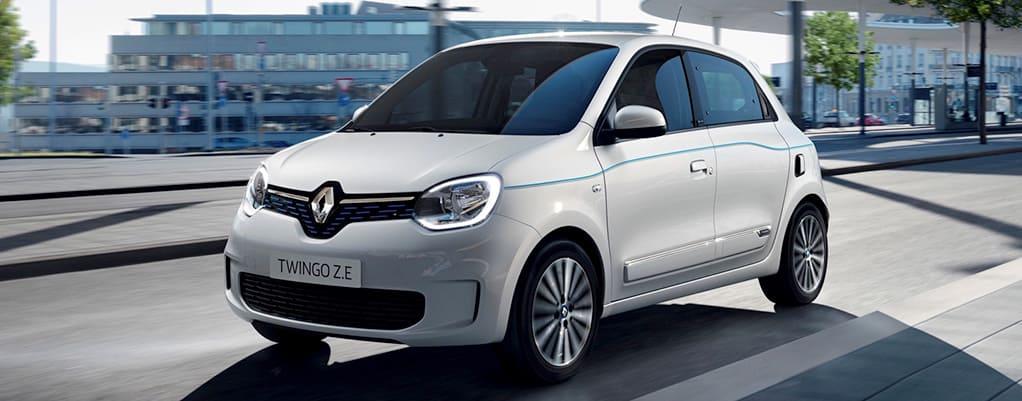 Renault Twingo elektrisch wit
