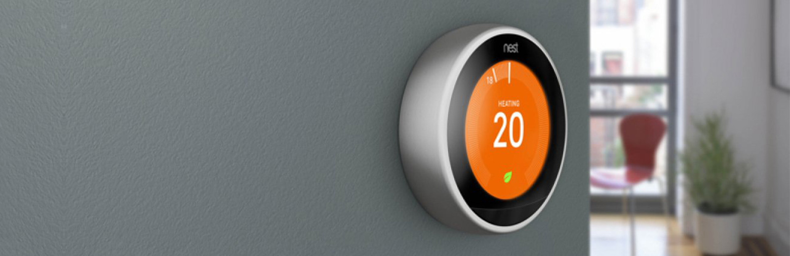 Nest thermostat wall mounted
