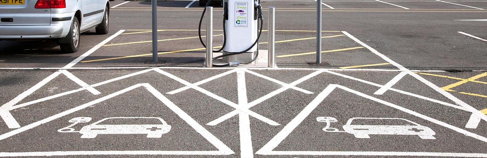 Public EV charging spaces