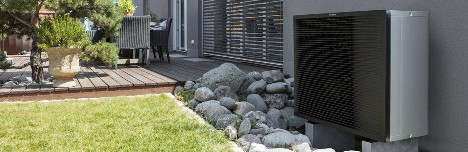 Heat pump outdoors