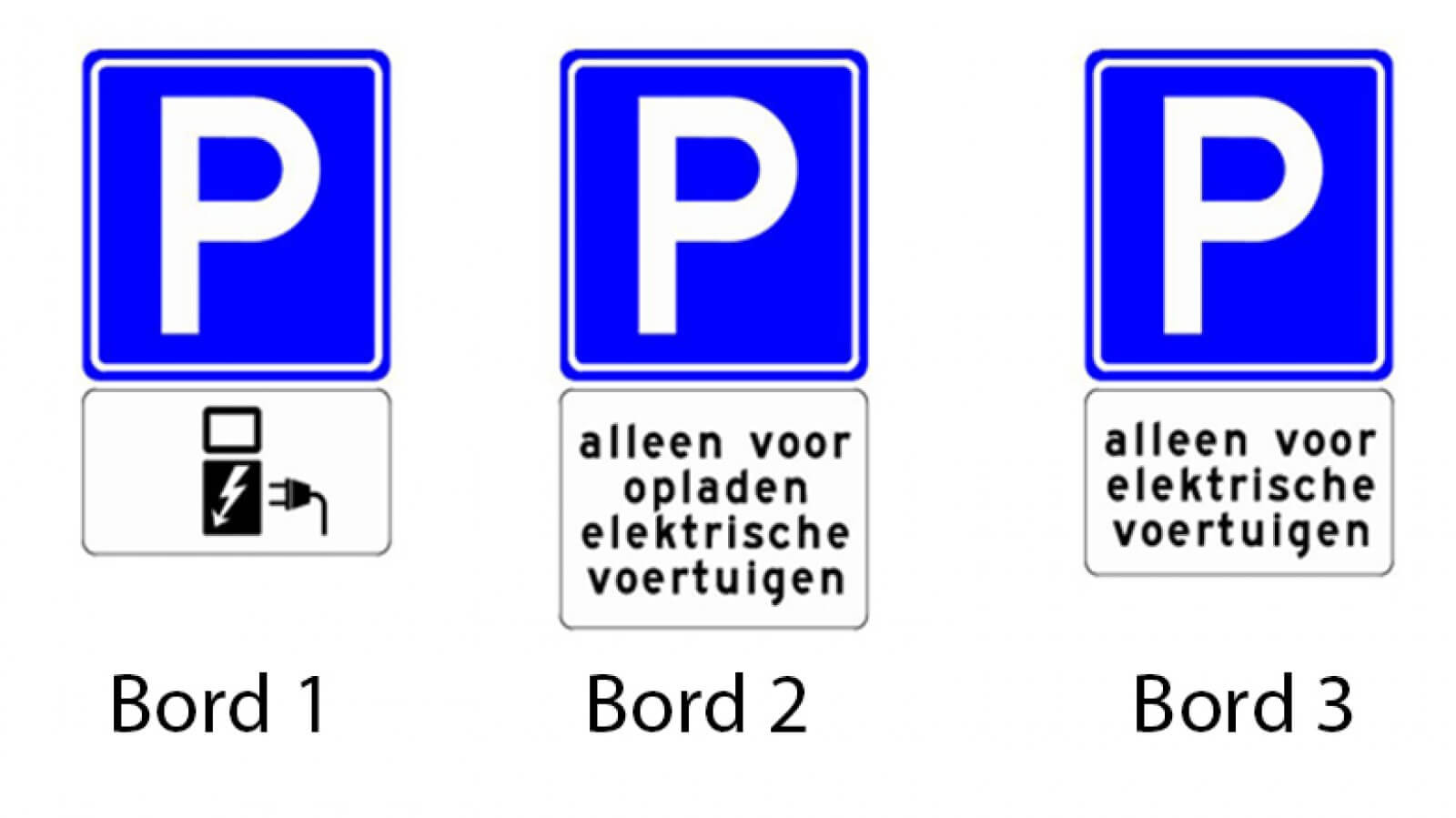 openbare laadpaal parkeerborden