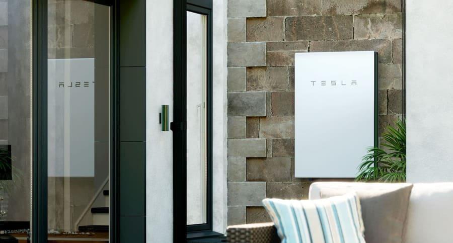 Tesla Powerwall wall mounted