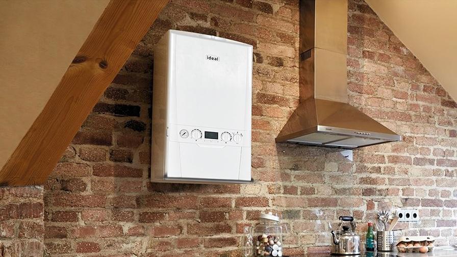 Ideal boiler wall installation