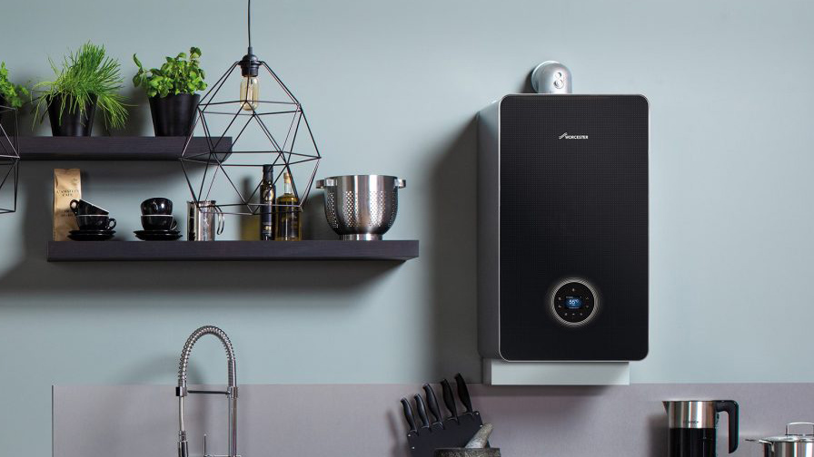 Ideal boiler on wall