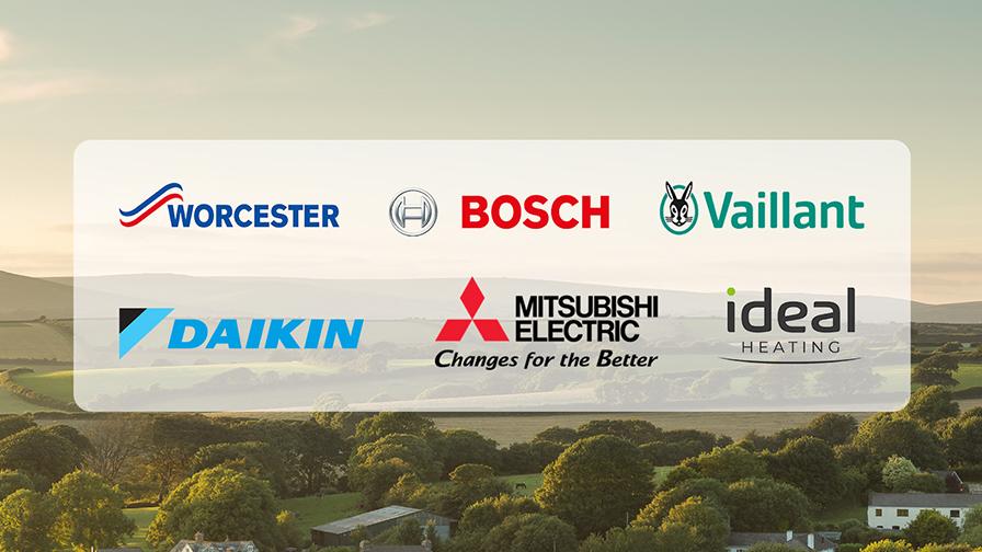 Heating manufacturer brand logos