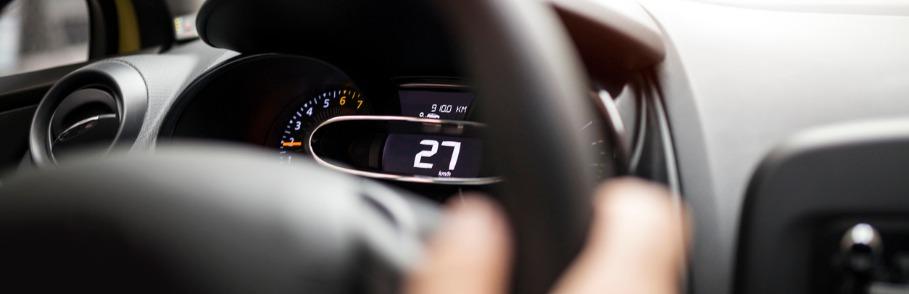 elektrische auto snelheidsmeter
