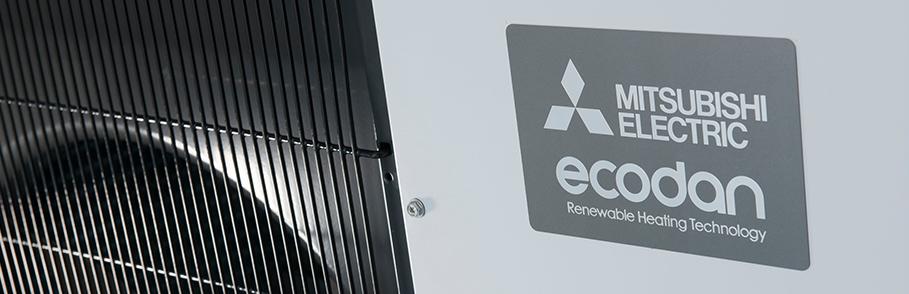 Mitsubishi ecodan Air Source Heat pump banner