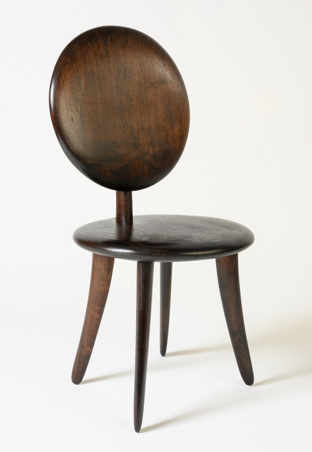 angled view of Willa's Chair by artist Christopher Kurtz