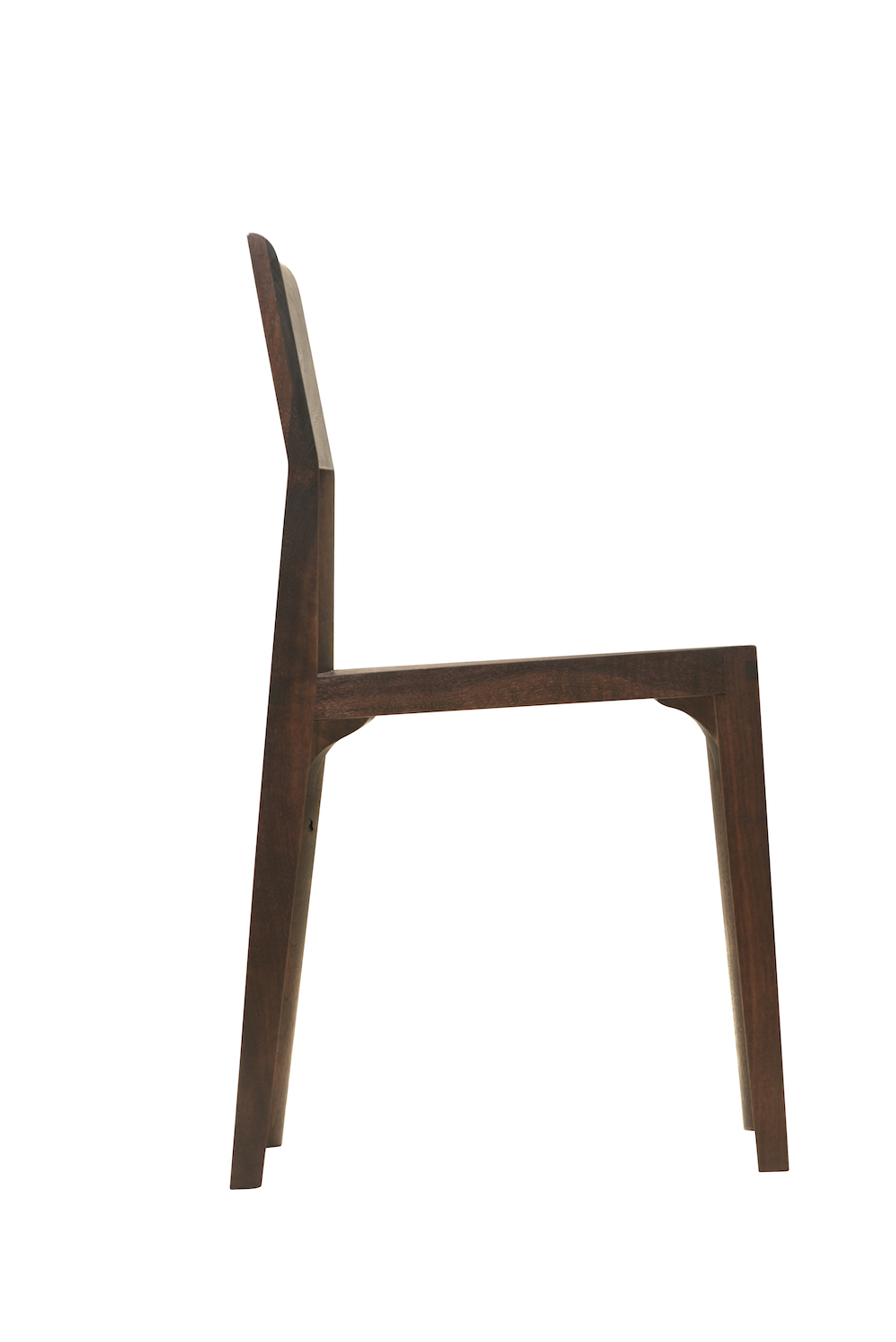 side view of the Quarter Round Chair by artist Christopher Kurtz