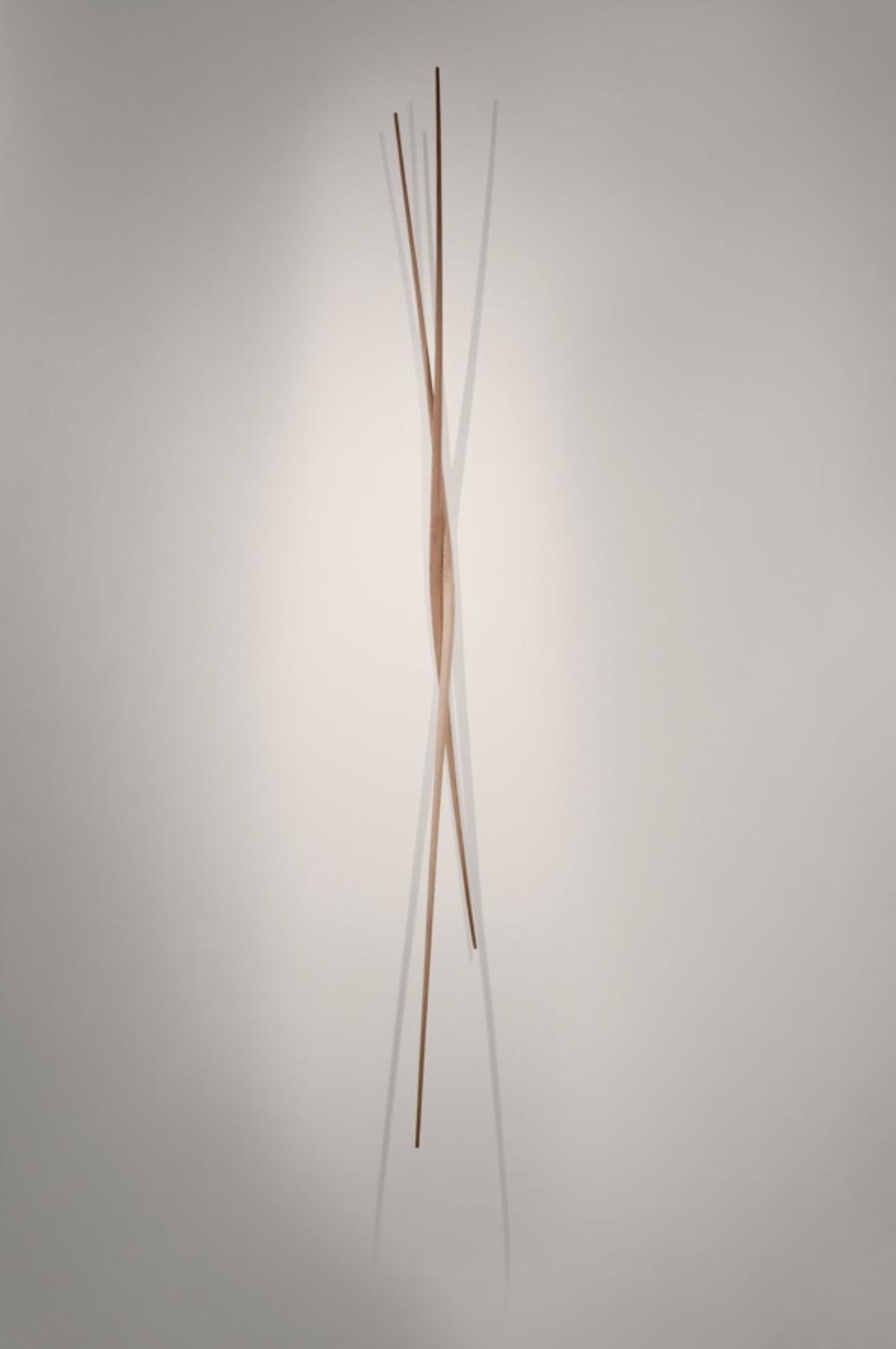 a wood sculpture by artist Christopher Kurtz