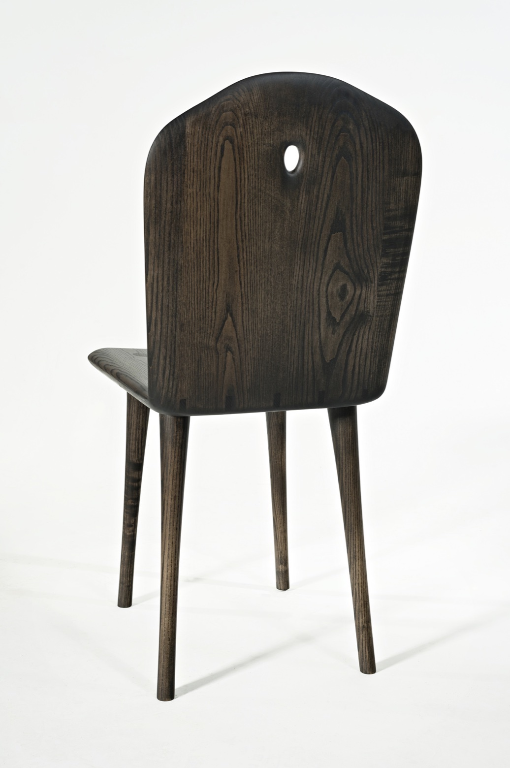 back view of the Conrad Chair by artist Christopher Kurtz