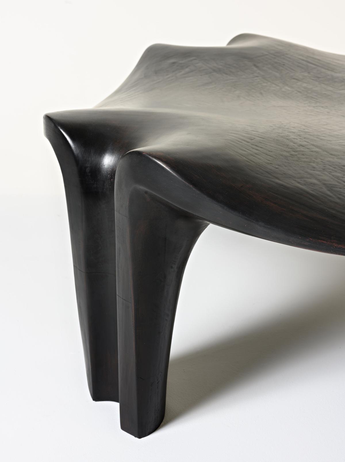 leg detail of the Thebes Bench by artist Christopher Kurtz