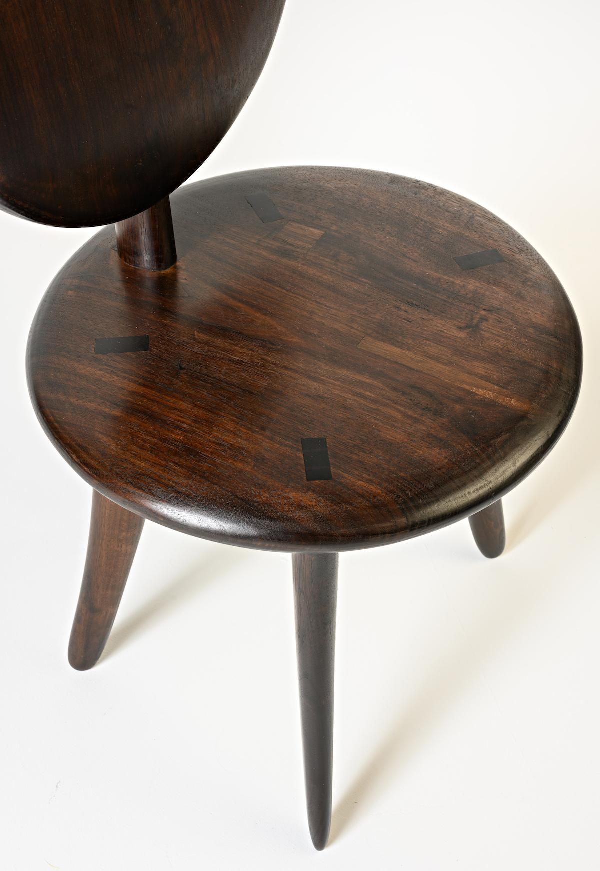 Seat detail of Willa's Chair by artist Christopher Kurtz
