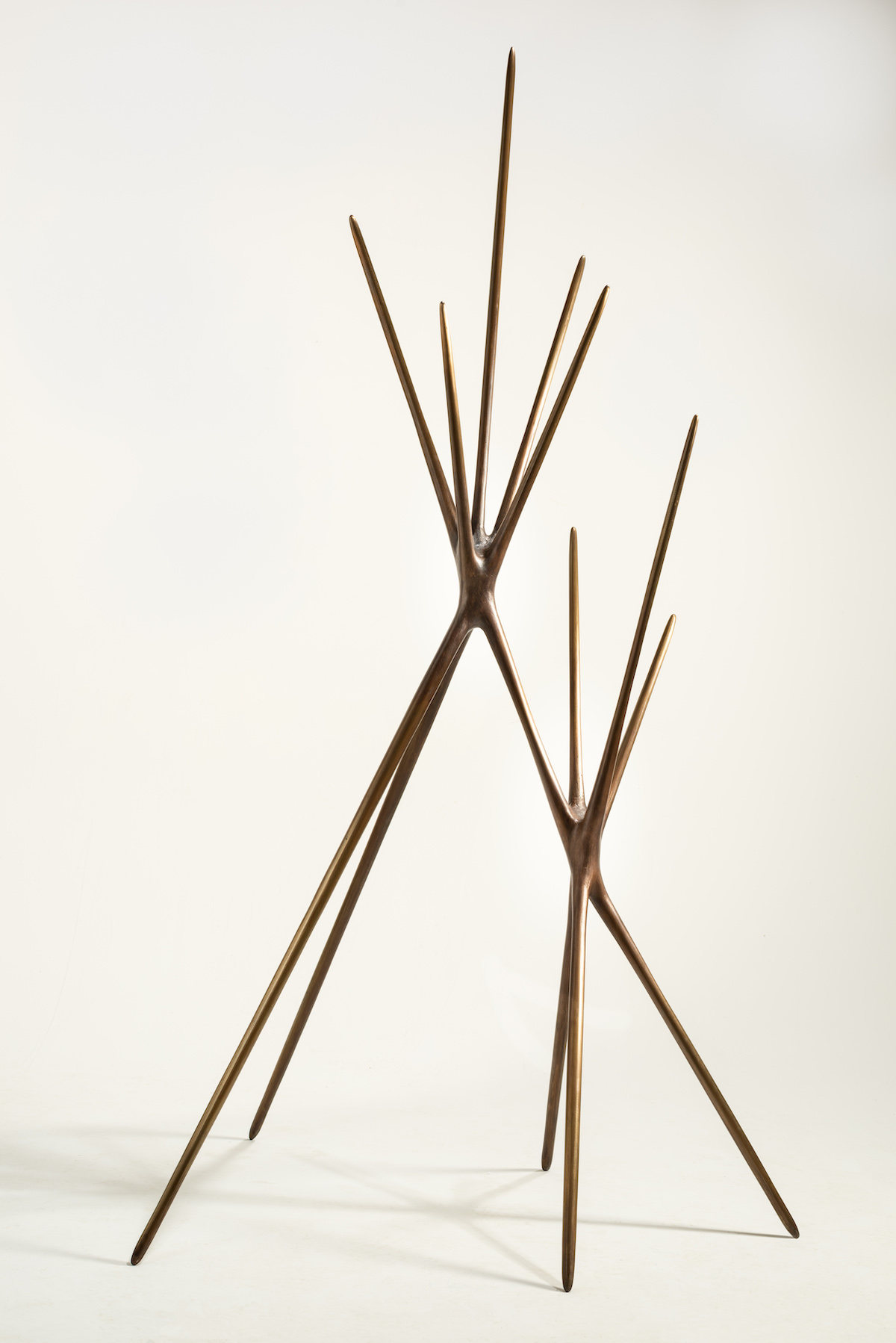 side view of Untitled (Standing Sculpture) by Christopher Kurtz