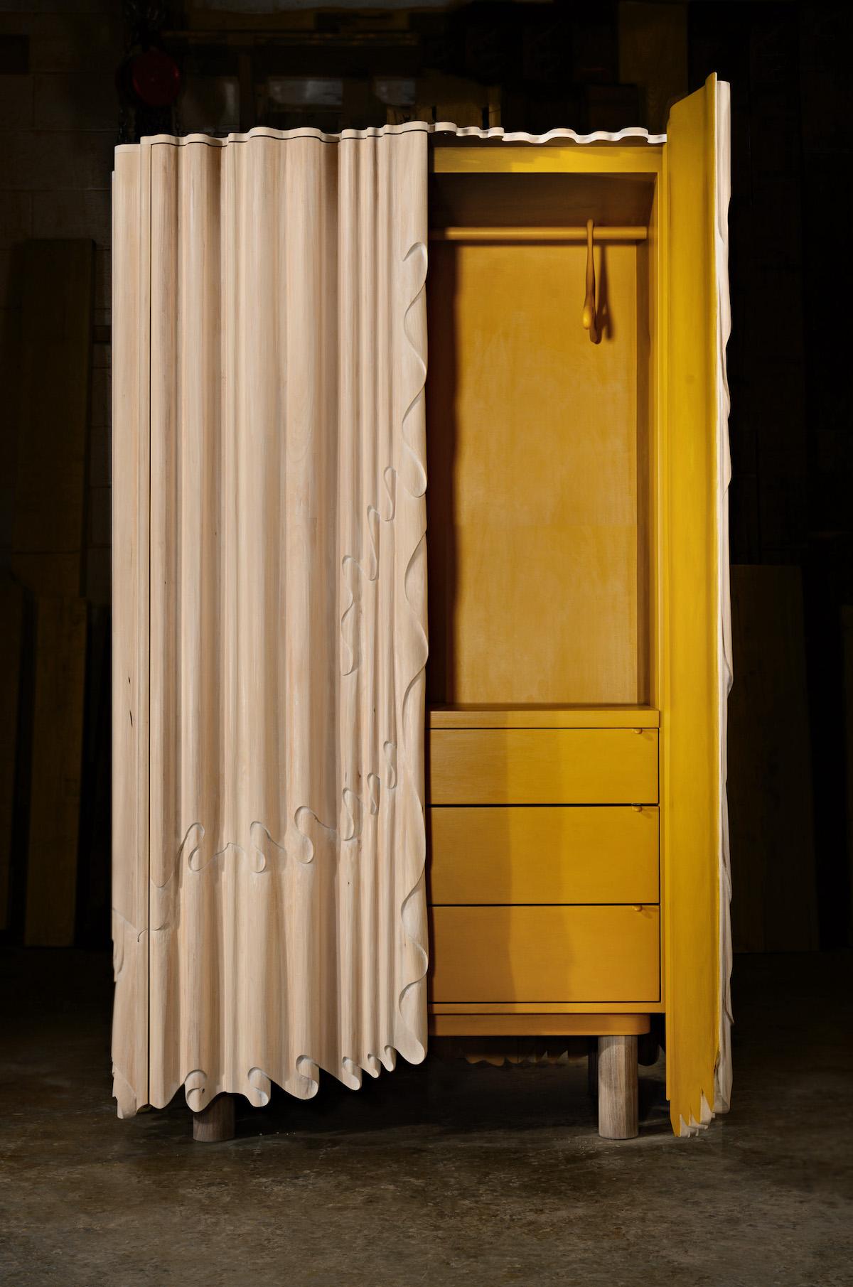 Linenfold Armoire (Perpendicular Style) by artist Christopher Kurtz