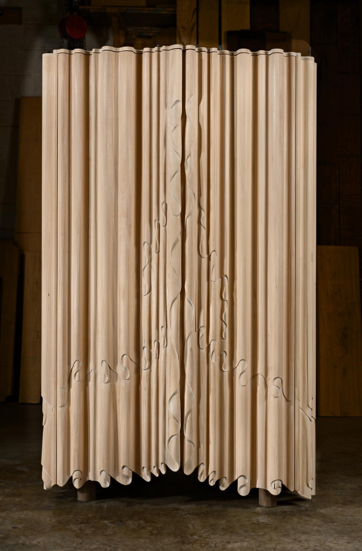 Linenfold Armoire by artist Christopher Kurtz