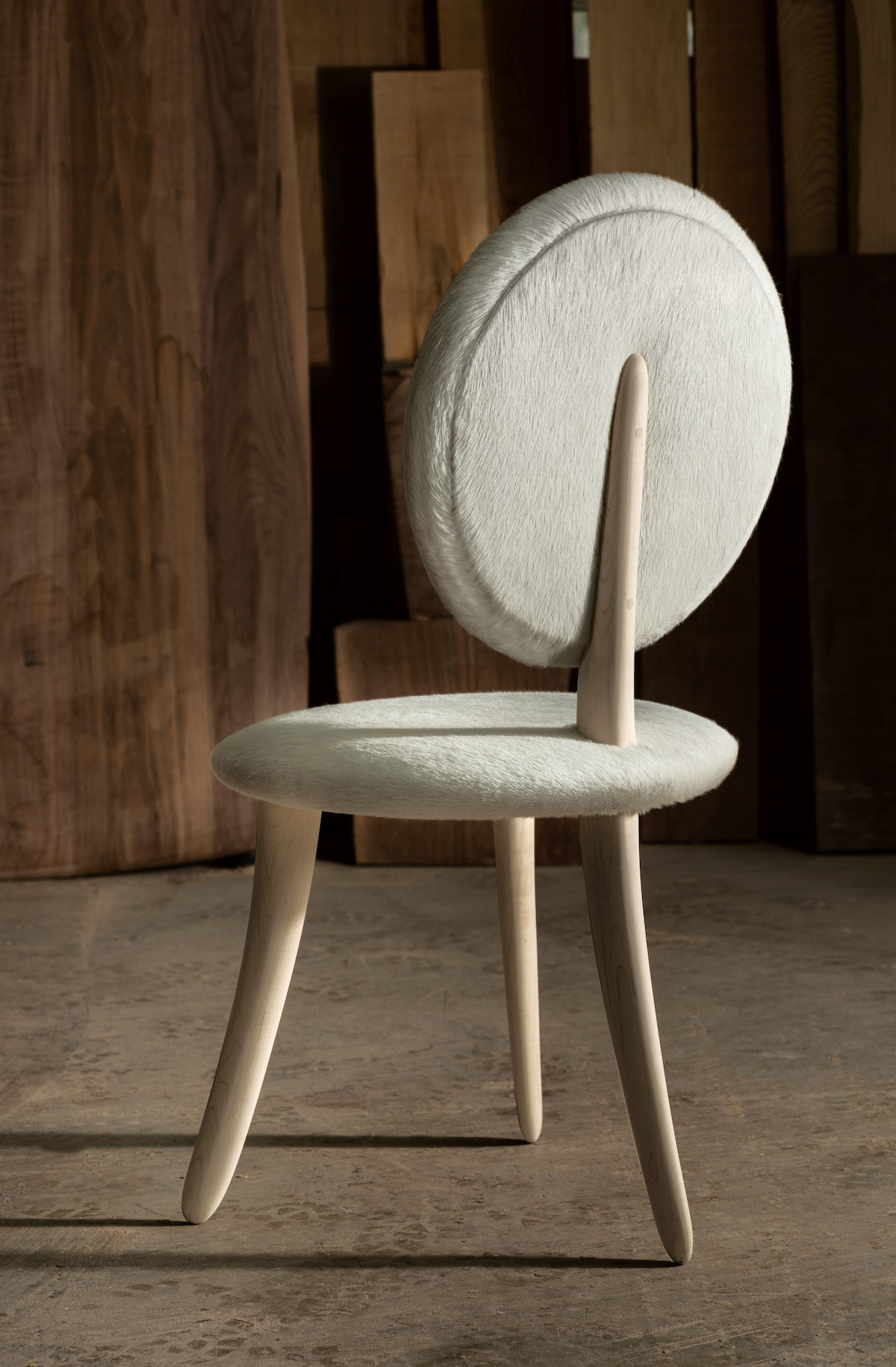 back view of the Willa's Chair by artist Christopher Kurtz