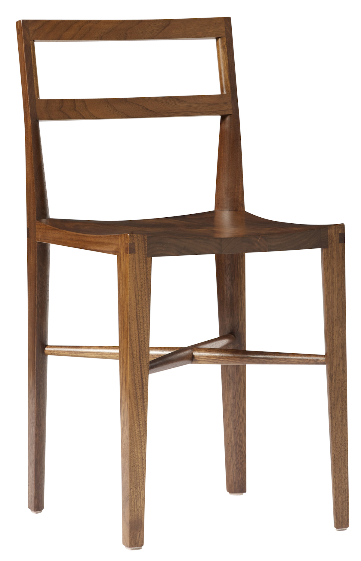 angled view of a Quarter Round Ladderback Chair by artist Christopher Kurtz
