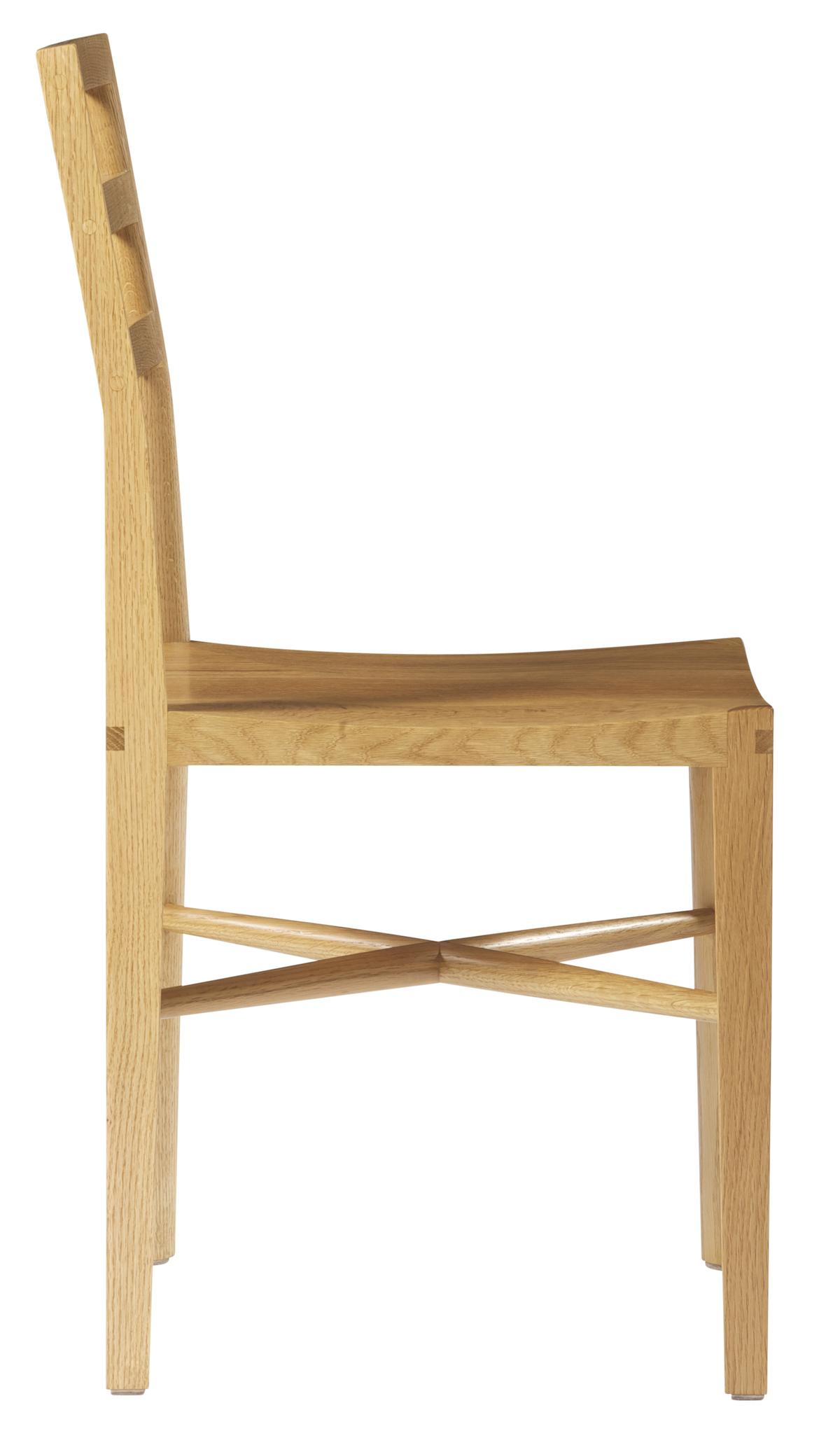 side view of a Quarter Round Ladderback Chair by artist Christopher Kurtz