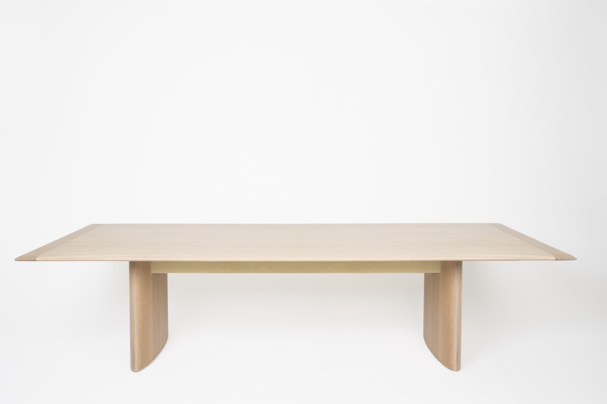 oak dining table by artist Christopher Kurtz