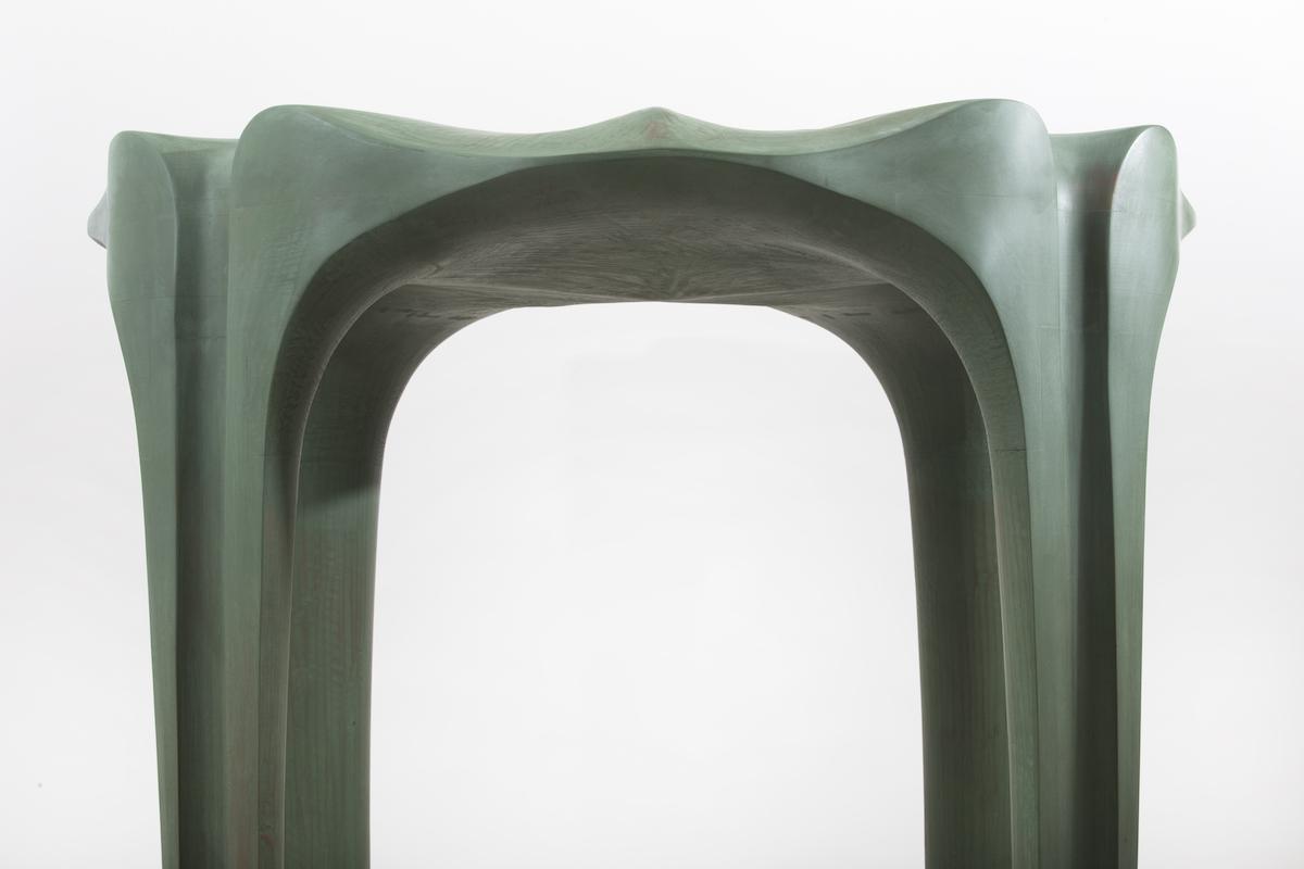 top detail of Pavilion Stool by Christopher Kurtz