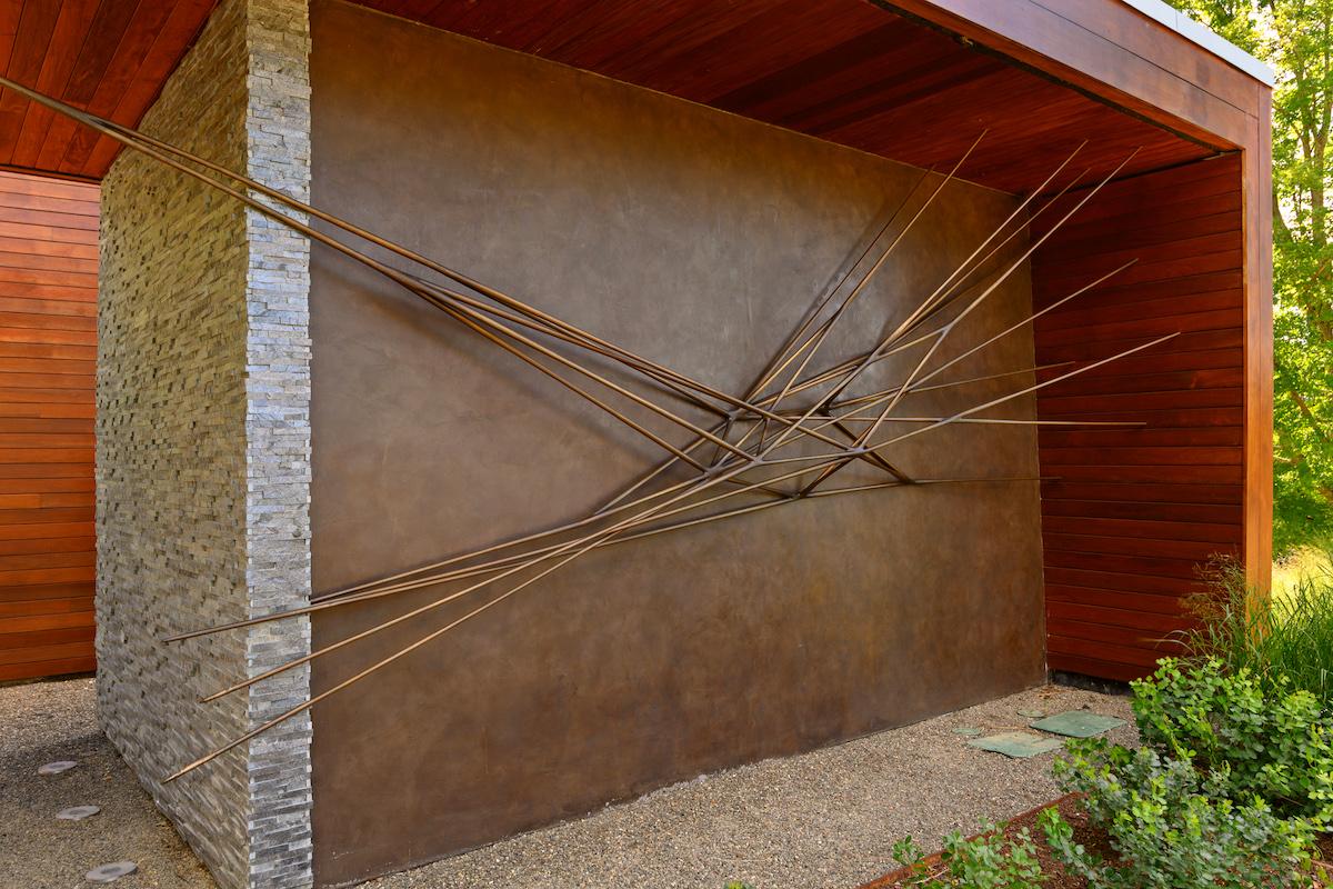 Portal, a sculpture by Christopher Kurtz, is an installation on a home