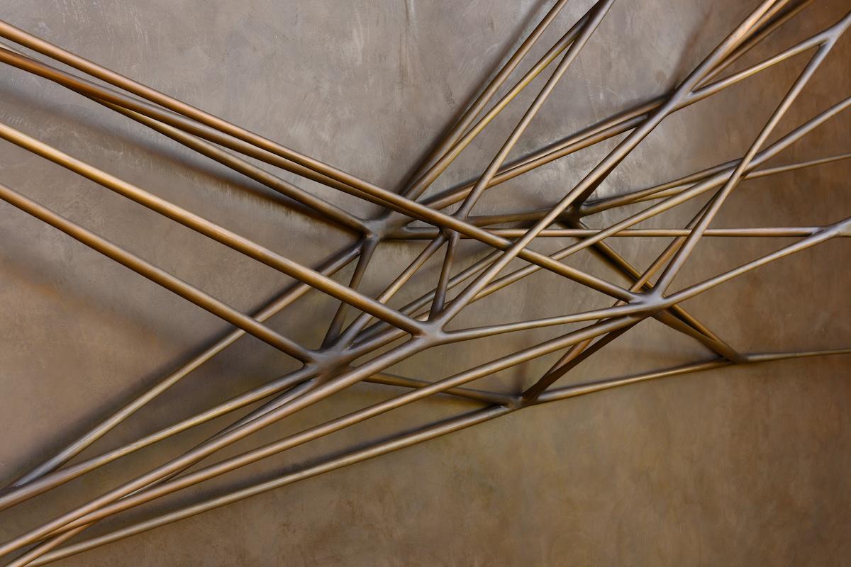 detail of Portal, a sculpture by Christopher Kurtz, an installation on a home