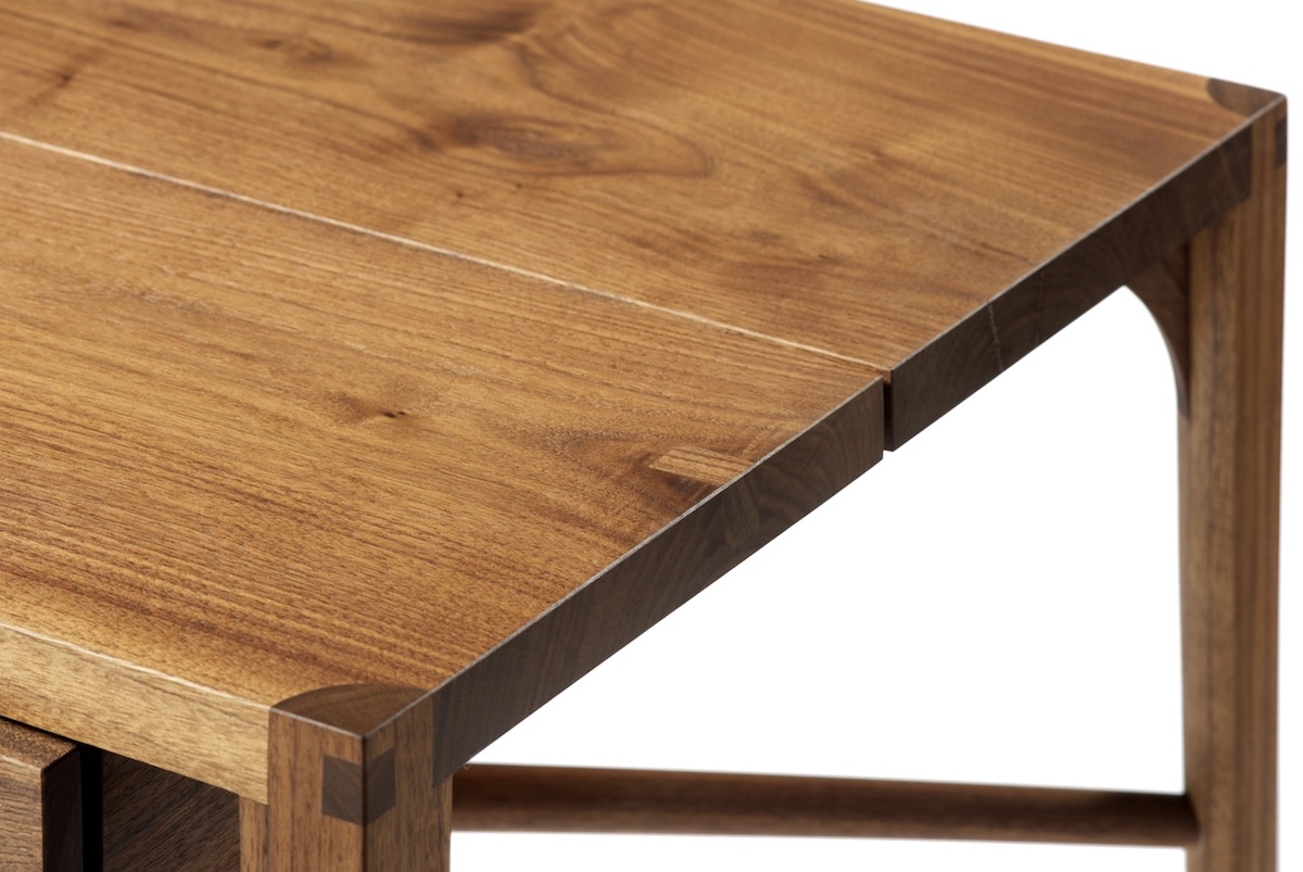 surface detail of the Floating Drawer Table by artist Christopher Kurtz