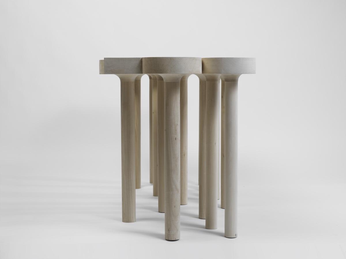 leg detail of Redemption Table by artist Christopher Kurtz