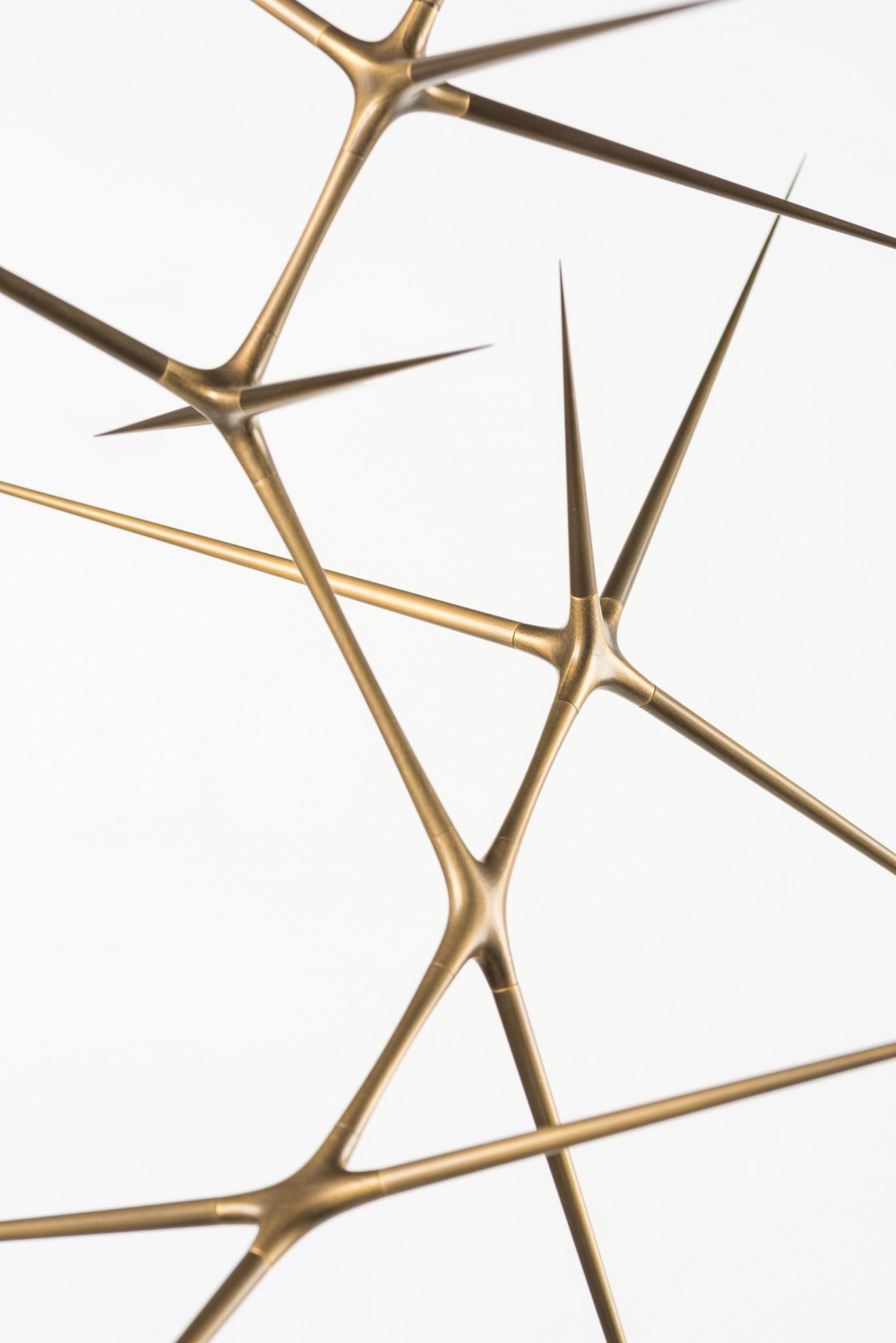 detail of a Meridian sculpture by Christopher Kurtz