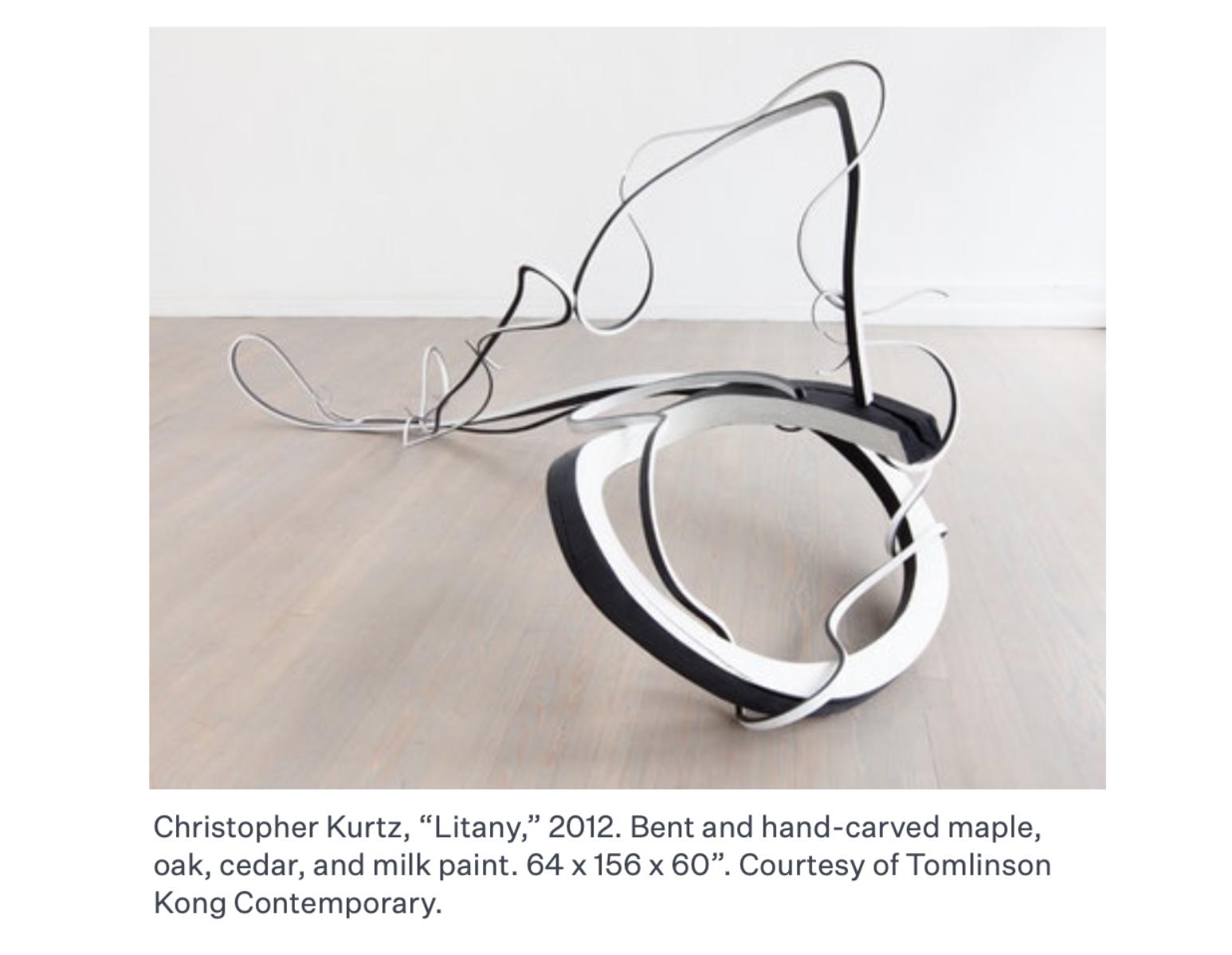 Litany is a free-form sculpture by artist Christopher Kurtz
